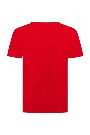 Sport Boys Red Crocodile Short Sleeves T-Shirt