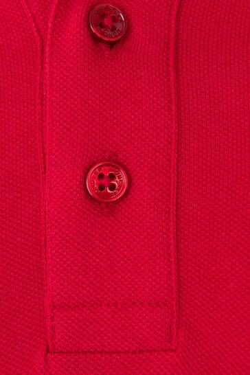 Boys Cotton Pique Long Sleeve Polo Top