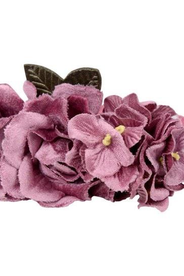 Girls Beige/Pink Floral Headband