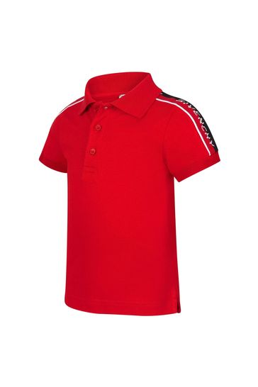 Baby Boys Red Cotton Poloshirt