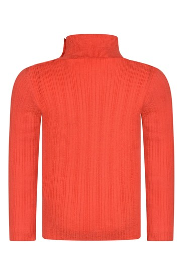 Baby Boys Red Wool Turtle Neck Jumper