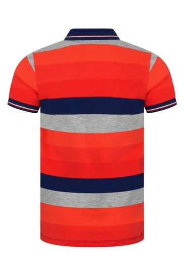 Boys Orange Cotton Polo Top