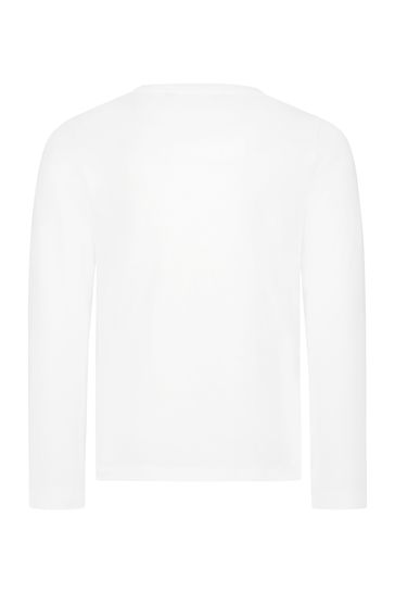 걸스 화이트 코튼 티셔츠