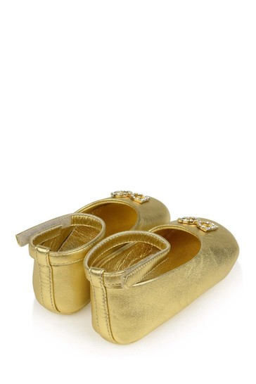 Baby Girls Gold Leather Pre-Walker Shoes