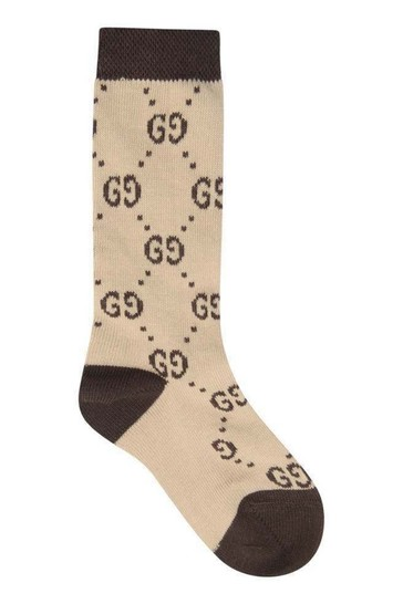 Baby Beige Cotton GG Socks