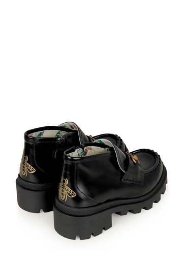 Black Leather Harald Booties