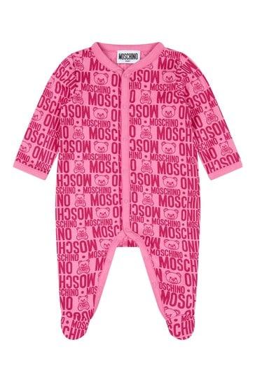 아기 소녀 핑크 코튼 베이비 성장 선물 세트