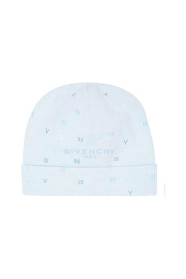 Baby Boys Blue Reversible Cotton Hat