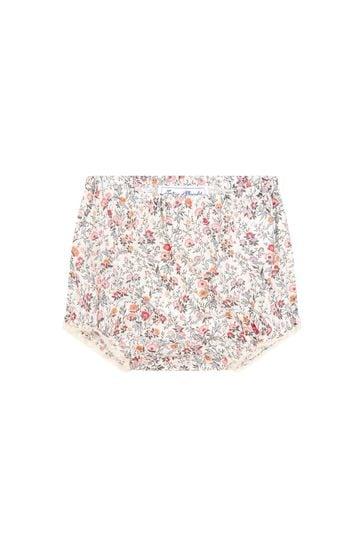 Baby Girls Cream Cotton Bloomers