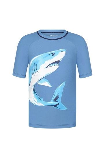 Hatley Blue Deep Sea Shark Short Sleeve Rashguard