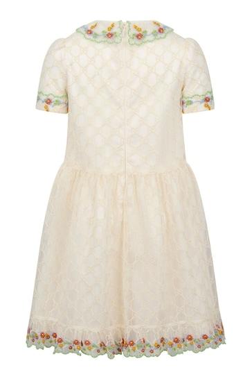 걸즈 크림 드레스