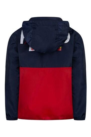 Boys Navy/Red Pullover Jacket