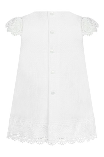 Baby Girls White Cotton Dress