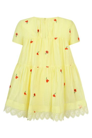 Girls Yellow Cotton Dress
