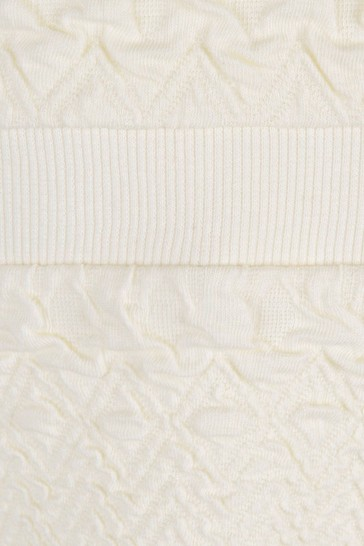 Girls Ivory Organic Cotton Flower Patch Sweater Dress