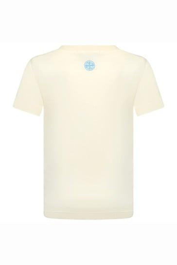 Boys Beige Cotton T-Shirt
