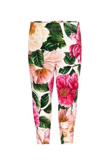 Dolce & Gabbana Baby Girls Pink Cotton Leggings