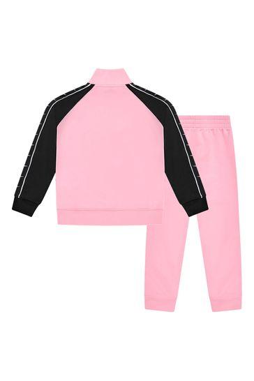 걸스 핑크 트랙수트