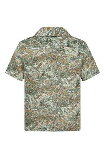 보이즈 그레이 코튼 셔츠
