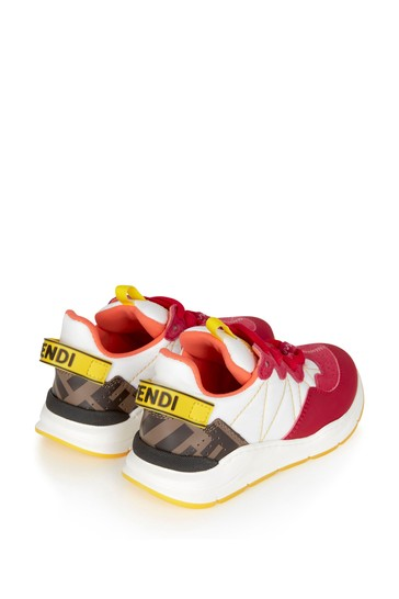 Girls Pink Cotton Trainers