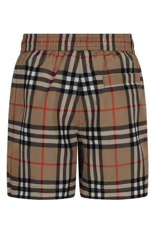 Boys Vintage Check Galvin Swim Shorts