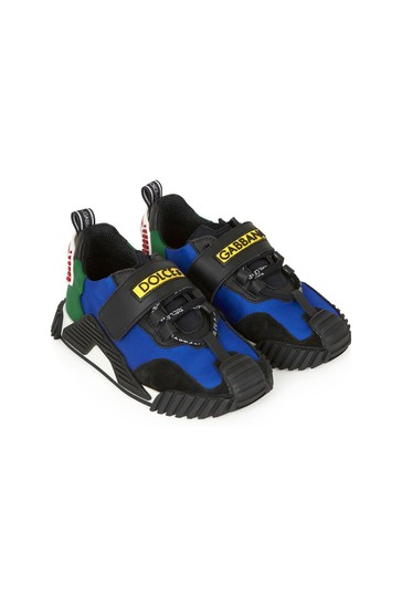 Dolce & Gabbana Boys Blue Leather Trainers