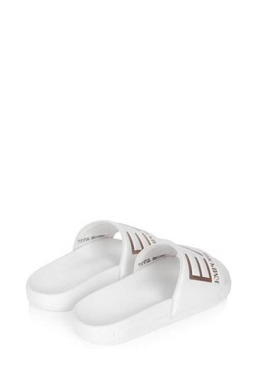 Girls White Sliders