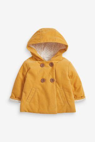 Ochre Cord Hooded Jacket (0mths-2yrs)
