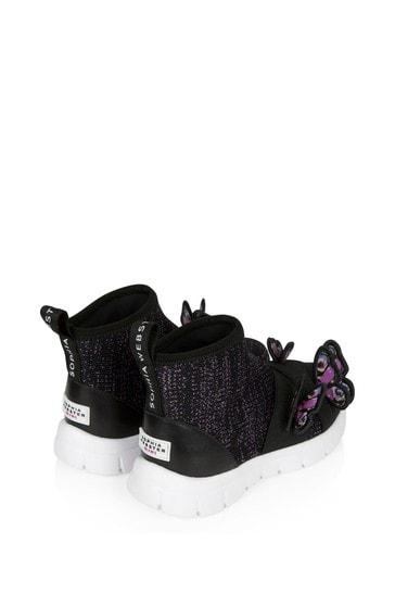 Girls Black Riva Sneakers