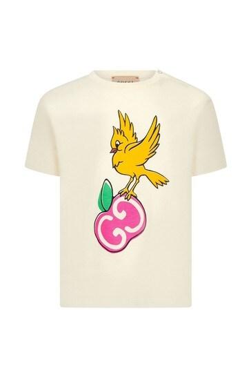아기 소녀 라이트 핑크 코튼 티셔츠
