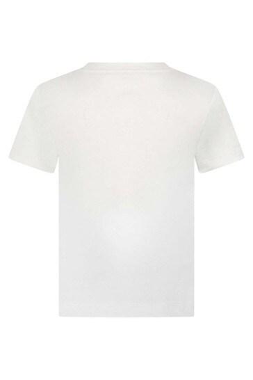 Girls Cotton Studded Logo T-Shirt