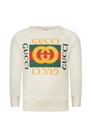 키즈 로고 프린트 스웨터