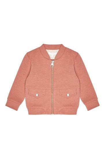 Girls Orange Jersey Bomber