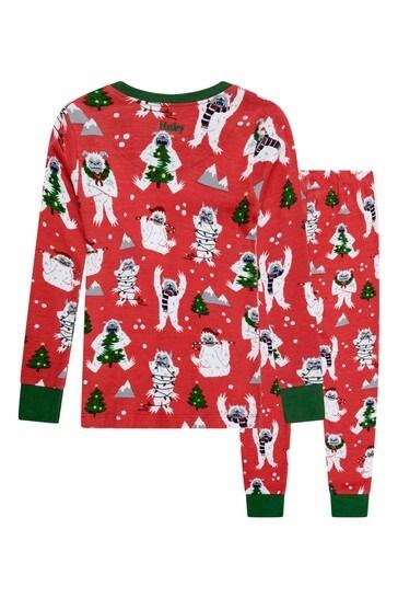 Hatley Organic Cotton Red Christmas Pyjamas