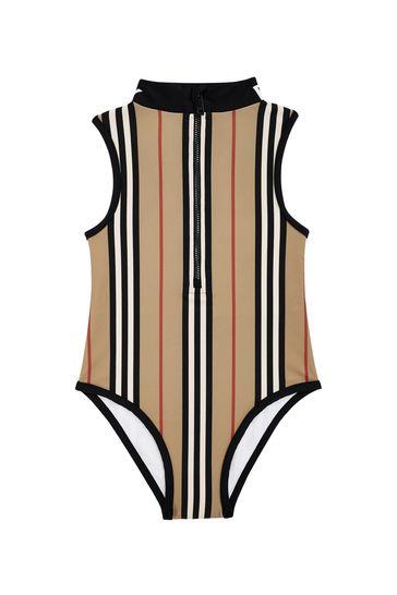 Girls Beige Swimsuit