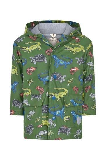 Hatley Green Aquatic Reptiles Raincoat