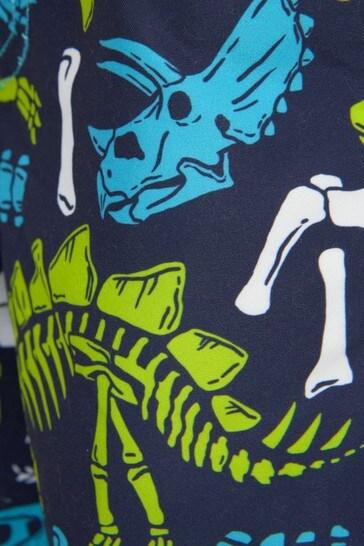 Hatley Blue Dino Fossils Swim Shorts