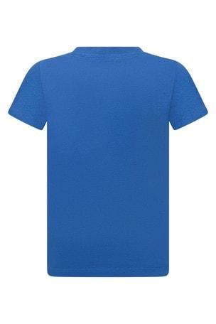 보이즈 코튼 블루 반소매 티셔츠