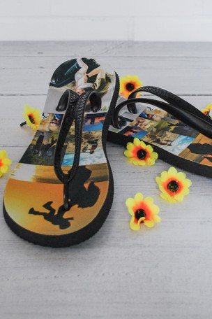 9bc677cb97d07c Buy Personalised Photo Upload Flip Flops by Instajunction from the ...