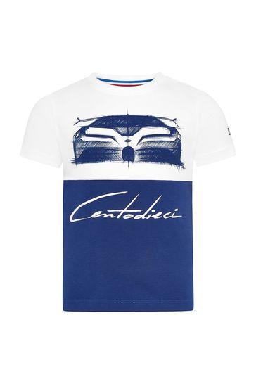 베이비 블루 코튼 티셔츠