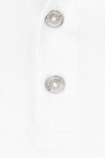 Boys White Organic Cotton Polo Top
