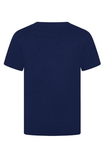 Boys Navy Cotton Jersey Logo T-Shirt