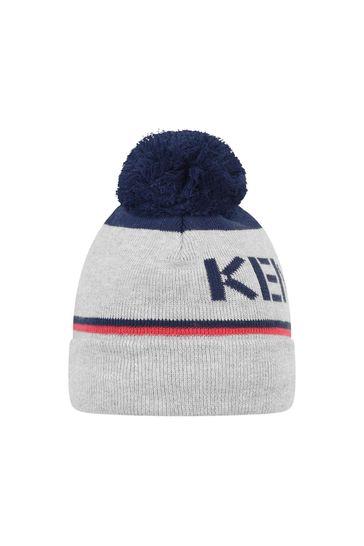 Boys Navy/Grey Bobble Hat