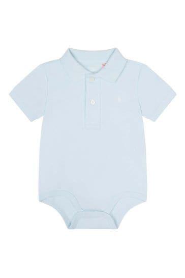 Baby Boys Blue Polo Bodysuit