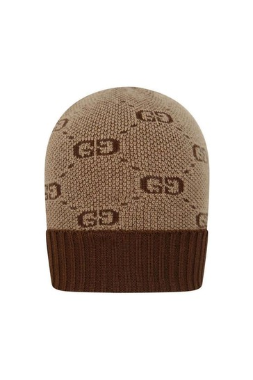 Baby GG Wool & Cotton Brown Hat