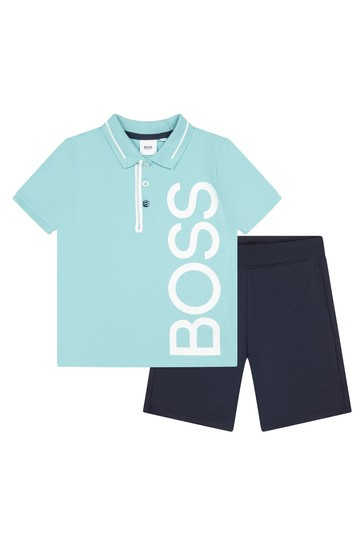 Blue Shorts And T-Shirt Set