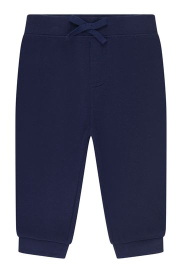 Baby Boys Navy Striped Cotton Top & Trousers Set