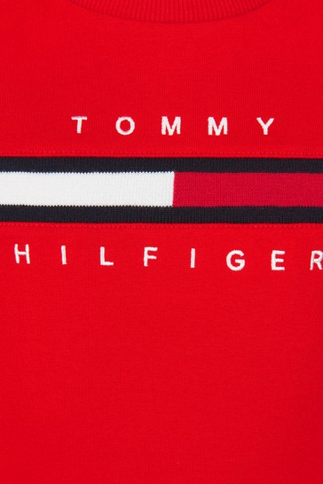 Tommy Hilfiger Boys Red Cotton Sweater