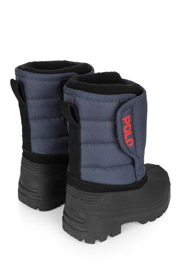 Boys Navy Snow Boots