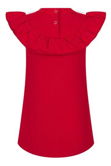 Baby Girls Red Cotton Dress